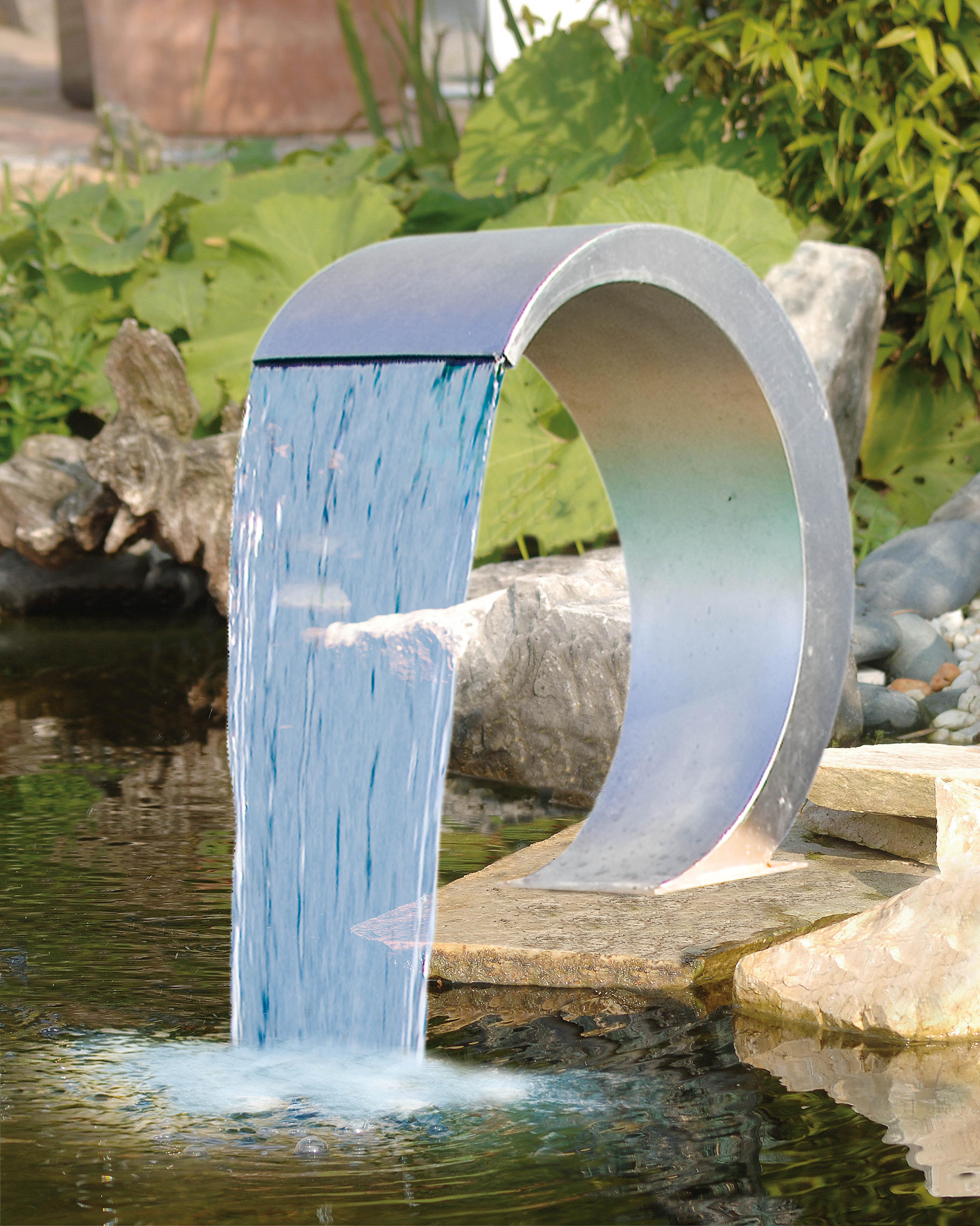 Ubbink waterval mamba roestvrij staal koi pleasure for Wasserfall mamba