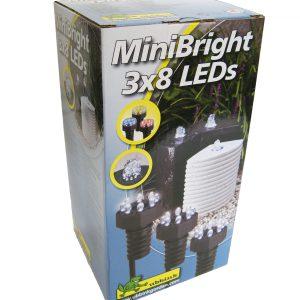 Ubbink MiniBright 3×8, 3 ledlampen met ieder 8 leddioden