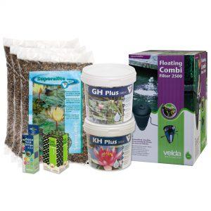 Velda vijverstartpakket voor vijver tot 3000 liter, plantenvijver