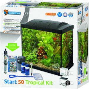 Aquarium Superfish Start 50 Tropical Kit Zwart